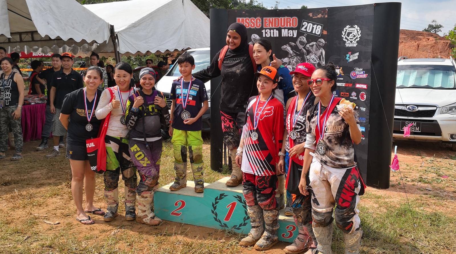 MSSC Enduro Race 2018 Ladies Kids class