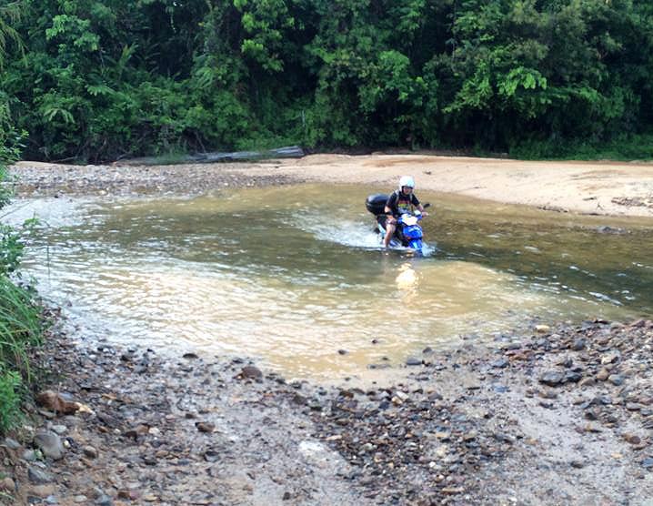 Motorcycle River Crossing